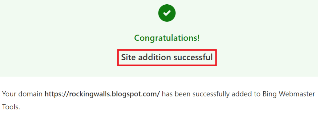 Bing Webmaster Tool-Site Submission